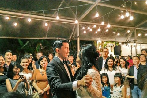 Their first dance as newly wed.