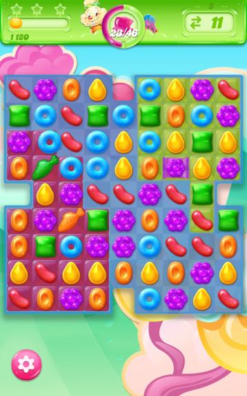 Inti game ini adalah matchingin candy agar jelly yang pink bisa spread ke semua area.